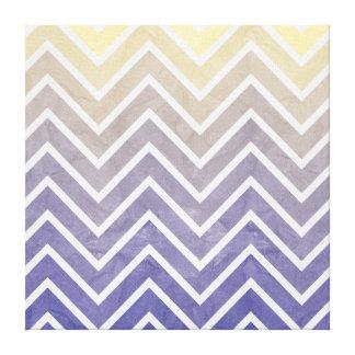 Cream Purple Chevron Pattern Canvas Print