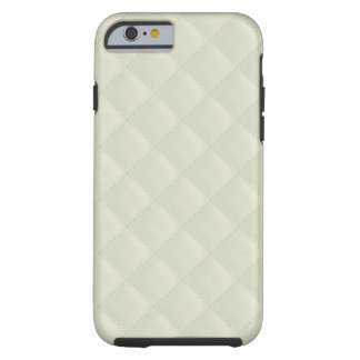 Cream Quilted Leather Tough iPhone 6 Case