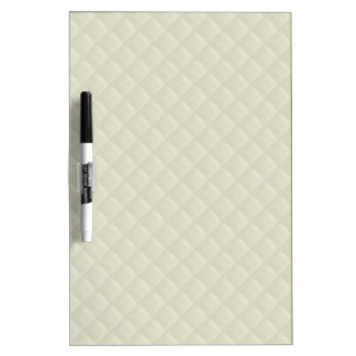 Cream Quilted Leather Dry-Erase Board