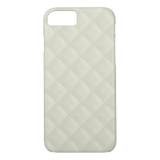 Cream Quilted Leather iPhone 7 Case