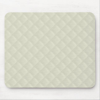 Cream Quilted Leather Mouse Pad