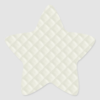 Cream Quilted Leather Star Sticker