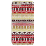 Cream Red Geo Abstract Aztec Tribal Print Pattern Barely There iPhone 6 Plus Case