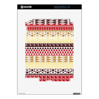 Cream Red Geo Abstract Aztec Tribal Print Pattern Skins For The iPad 2