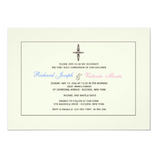 Cream Religious Invitation