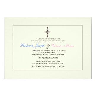 Cream Religious Invitation