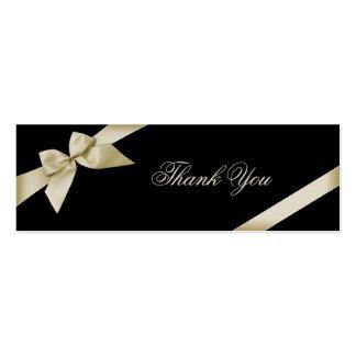 Cream Ribbon Thank You Card Business Card