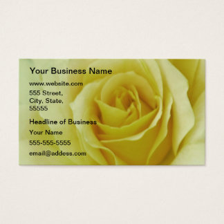 Cream Rose and meaning Business Card