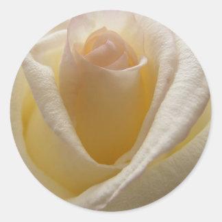 Cream Rose Envelope Closures Classic Round Sticker