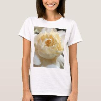 Cream Rose Flower Floral Print T-Shirt
