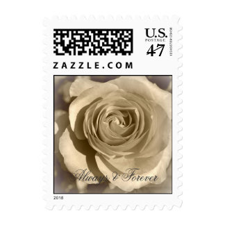 Cream Rose Forever and Always Postage