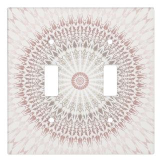 Cream Rose Mandala Light Switch Cover