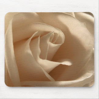 Cream Rose Photo Pretty Floral Flower Petals Bloom Mouse Pad