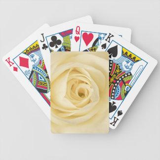 Cream rose playing cards