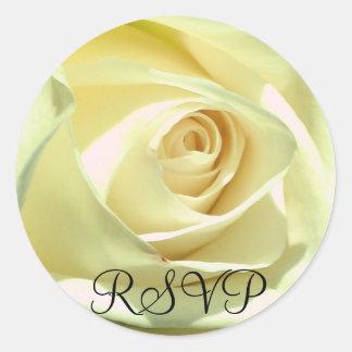 Cream Rose  RSVP Sticker