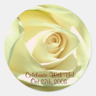 Cream Rose Sticker RSVP