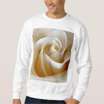 Cream Rose Wedding Photo Sweatshirt