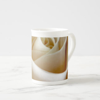 Cream Rose Wedding Photo Tea Cup