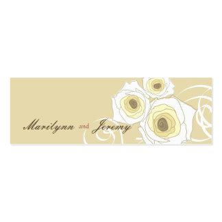 Cream Roses & Swirls *01 Custom Thank You Gift Tag Mini Business Card