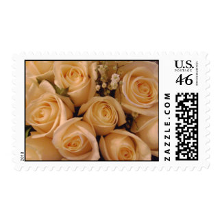 Cream Roses Wedding Postage Stamp