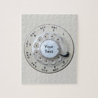 Cream Rotary Telephone Dial Jigsaw Puzzle