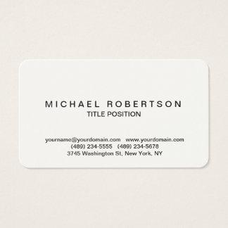 Cream Rounded Corner Minimalist Business Card
