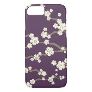 Cream Sakura Oriental Chic Cherry Blossoms Casing iPhone 7 Case