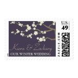 Cream Sakuras Cherry Blossoms Flower Wedding Stamp