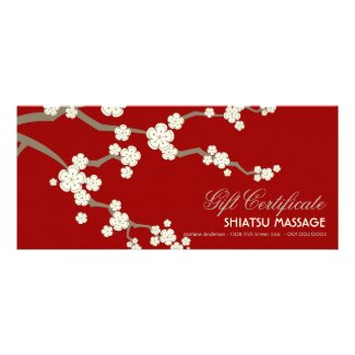 Cream Sakuras Cherry Blossoms Gift Certificate Full Color Rack Card