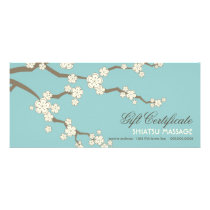 Cream Sakuras Cherry Blossoms Gift Certificate Rack Card