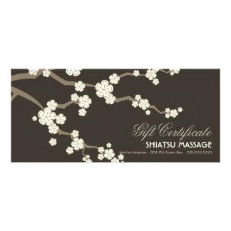 Cream Sakuras Cherry Blossoms Gift Certificate Custom Rack Cards
