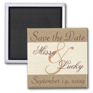 Cream Save the Date Magnet