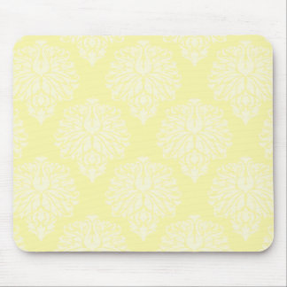 Cream Southern Cottage Damask Mouse Pad