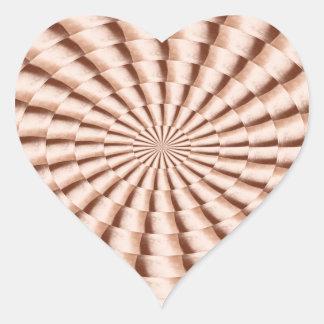 Cream Sparkle Wheel TEMPLATE add TEXT IMG Customiz Heart Sticker