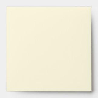 Cream Square Wedding Invitation Envelope