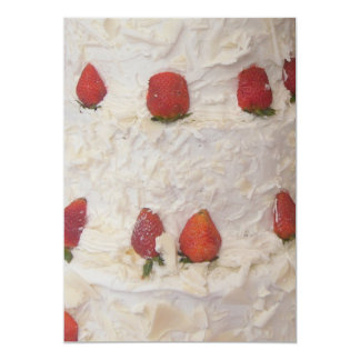 Cream strawberries invitation