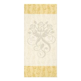 cream swirl damask rack cards