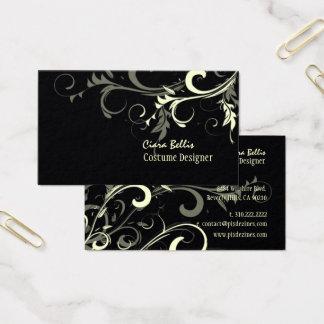Cream Swirls / Costume Designer / DIY color Business Card