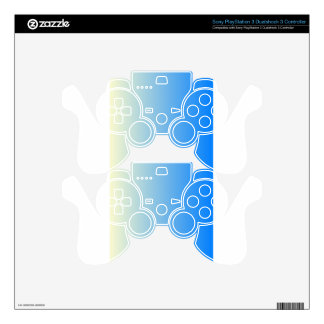 Cream to Azure Vertical Gradient PS3 Controller Skins