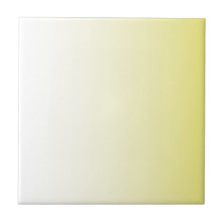 Cream to Cadmium Yellow Vertical Gradient Ceramic Tile