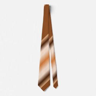Cream to Dark Brown Striped Neck Tie