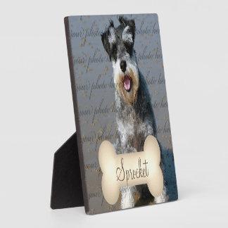 Cream Tone Bone with Pet's Name and Photo Plaque