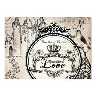 Cream Unconditional Love 5x7 Wedding Invitation