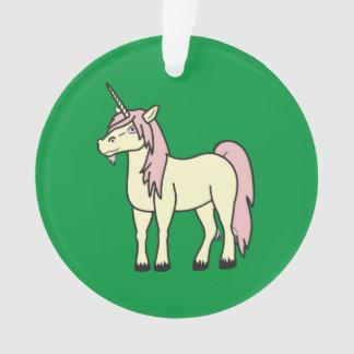 Cream Unicorn with Light Pink Mane Ornament