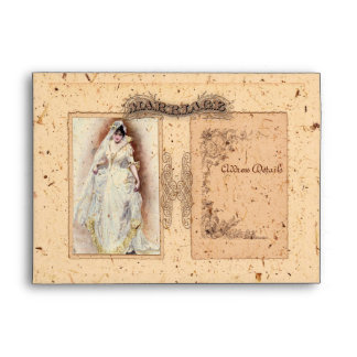 Cream Victoriana Save the Date Envelope