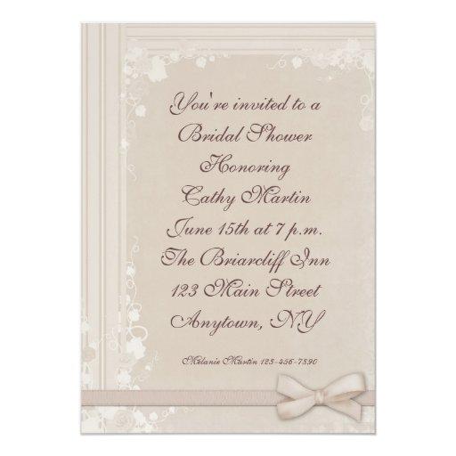 Cream Vine Border Invitation