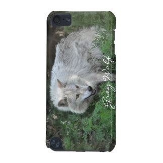 Cream White Grey Wolf Wildlife-Supporter Ipod Case iPod Touch (5th Generation) Covers