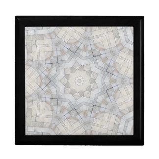 Cream White Marble Kaleidoscope Keepsake Box
