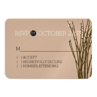 Cream Willow RSVP Card