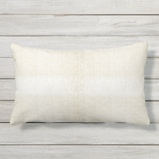 Cream with Shade Variation Outdoor Lumbar Pillow